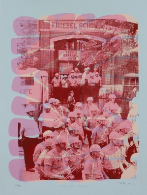 """""""After the Uprising"""" by Nicole Marroquin. 18x24'' screenprint, Printed at Hoofprint in 2017"""