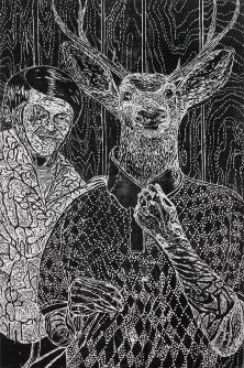 """ARM (El Brazo)"" Gabriel Villa Woodcut 40x60'' Edition of 10 $1200"
