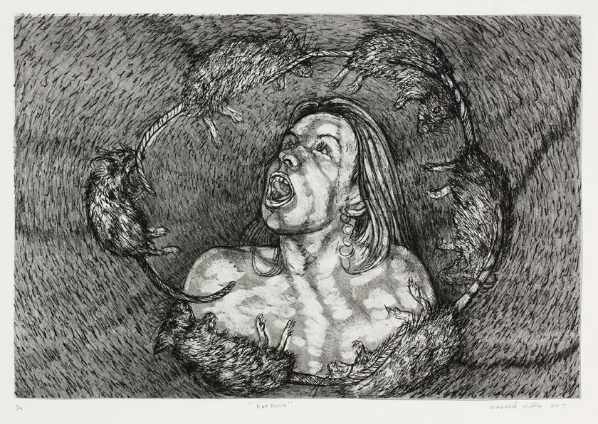 """Rat Porn"" Gabriel Villa Lithograph 22x29'' Edition of 4 $150 unframed/$250 framed"