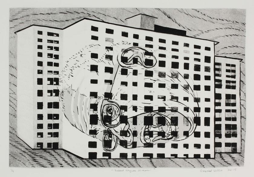 """""""Robert Taylor Scream"""" Gabriel Villa Lithograph 22x29'' Edition of 4 $150 unframed/$250 framed"""